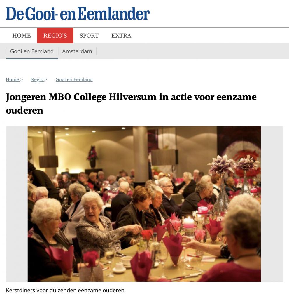 Jongeren MBO College Hilversum in actie voor eenzame ouderen
